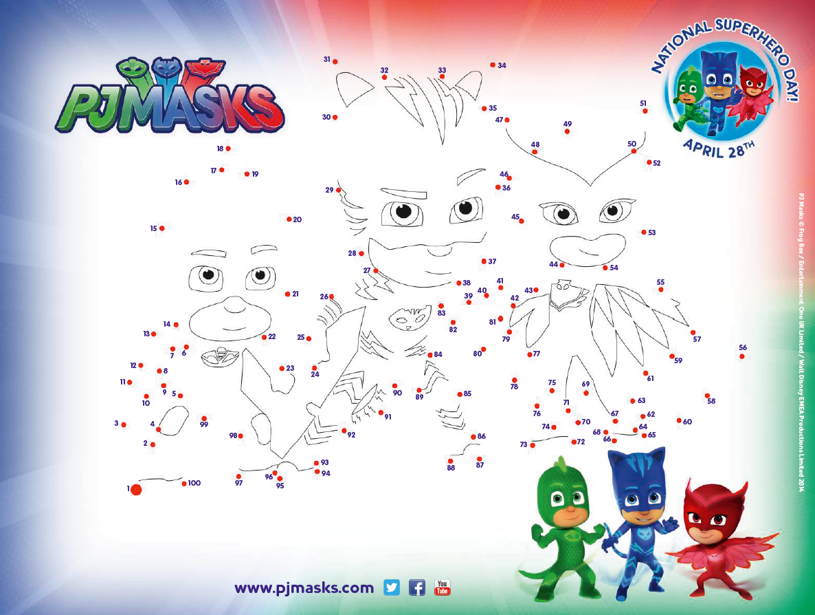 Pjmasks Make Dot To Dot