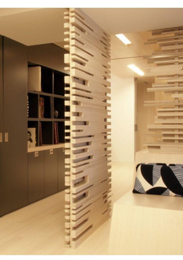 Wall divider Divisiones Pinterest División, Celosías y Separación - muros divisorios de madera