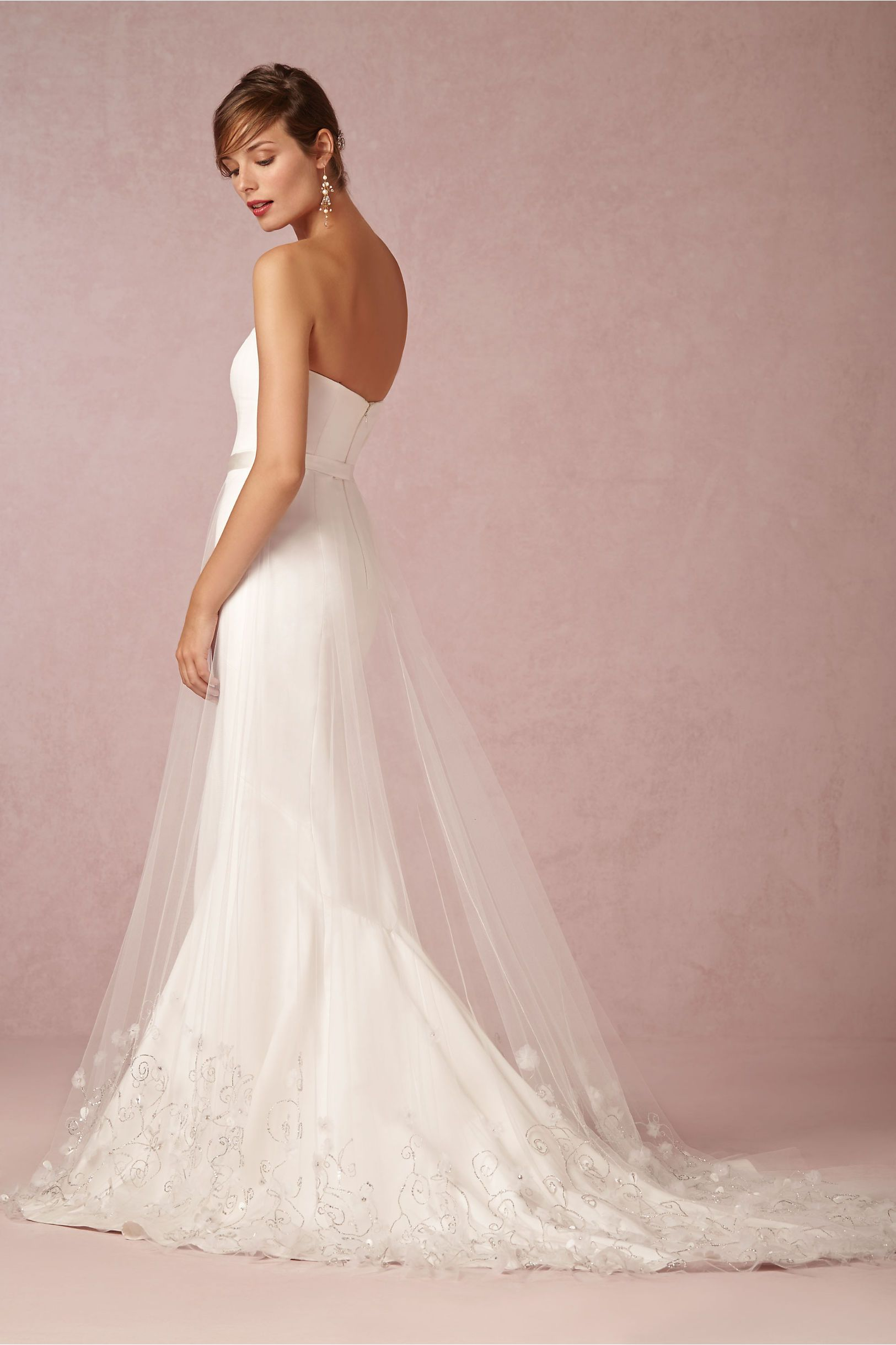 Ava tulle skirt from bhldn tiny silk petals and organza for Wedding dresses similar to bhldn