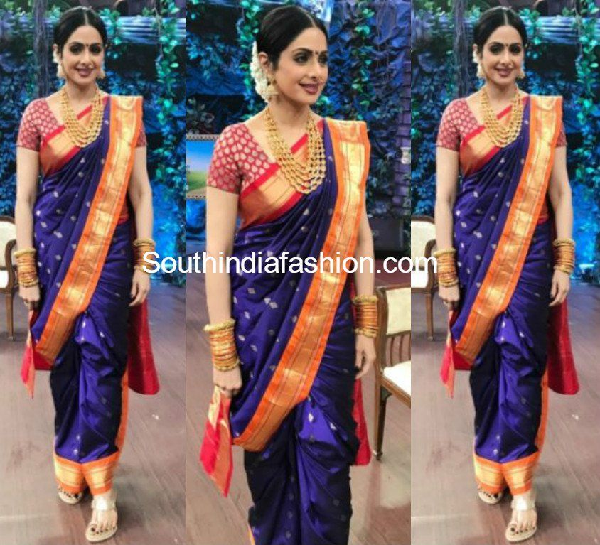 Sridevi Kapoor In Madhurya Creations South India Fashion Fashion Saree Marathi Saree