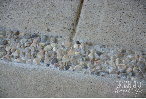 Excellent And Effective Way To Fill In Gaps On A Concrete Patio. Use Pea  Gravel