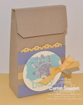 What a cute favor for a baby shower.  LOVE the soft colors