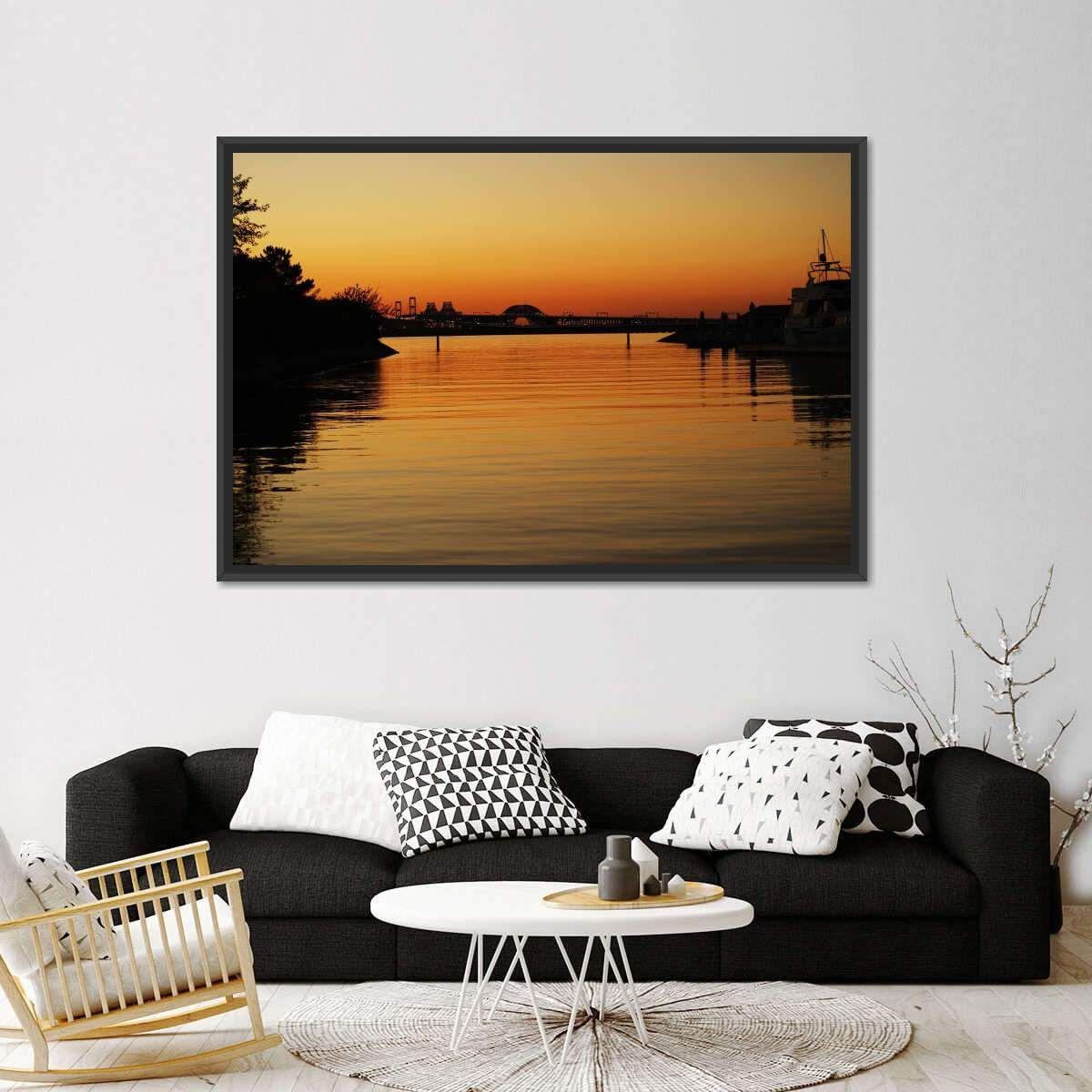 Photo of Chesapeake Canal Multi Panel Canvas Arte de pared