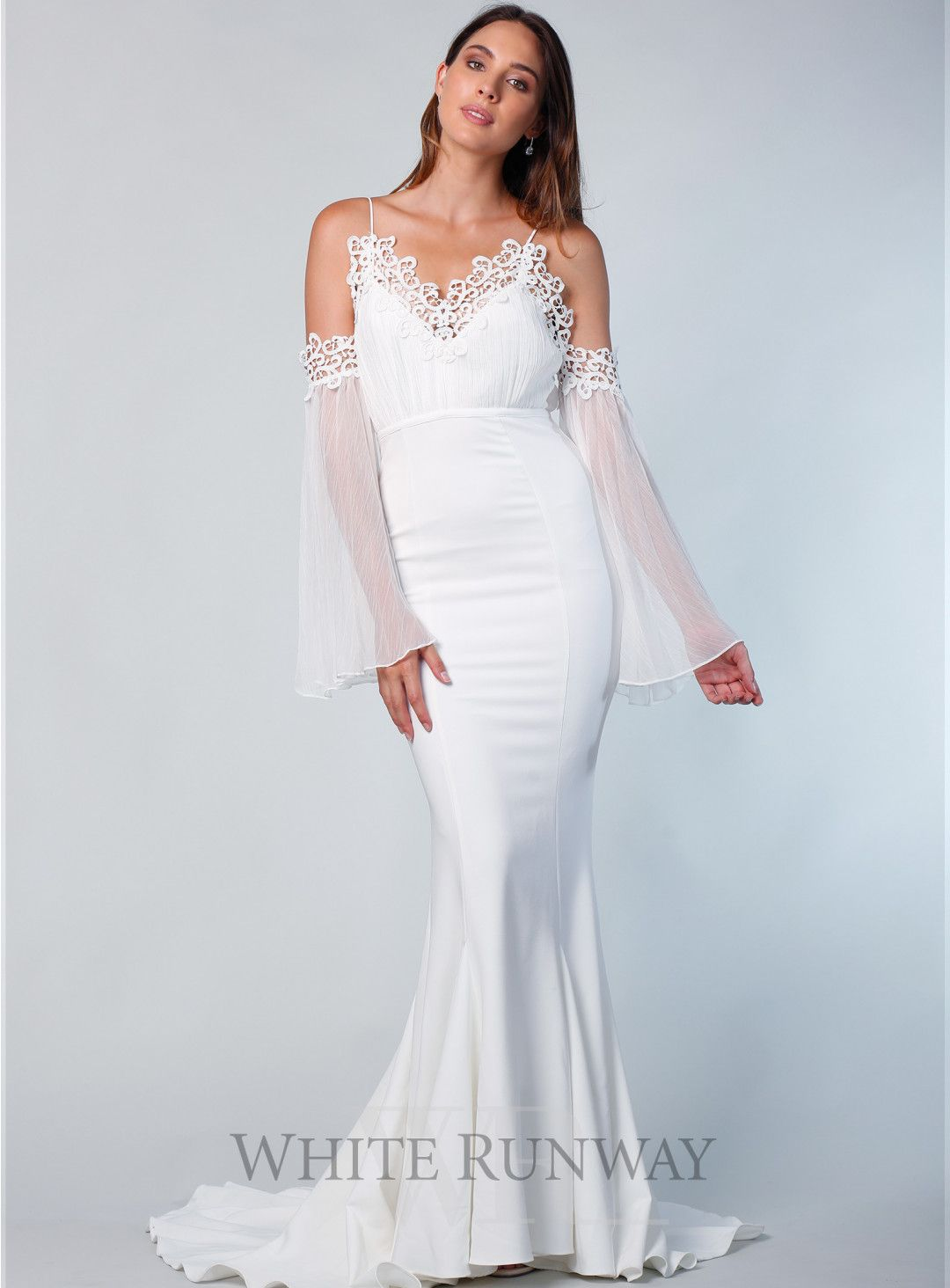 Miranda Gown. A glamorous full length gown by Elle Zeitoune. A v ...