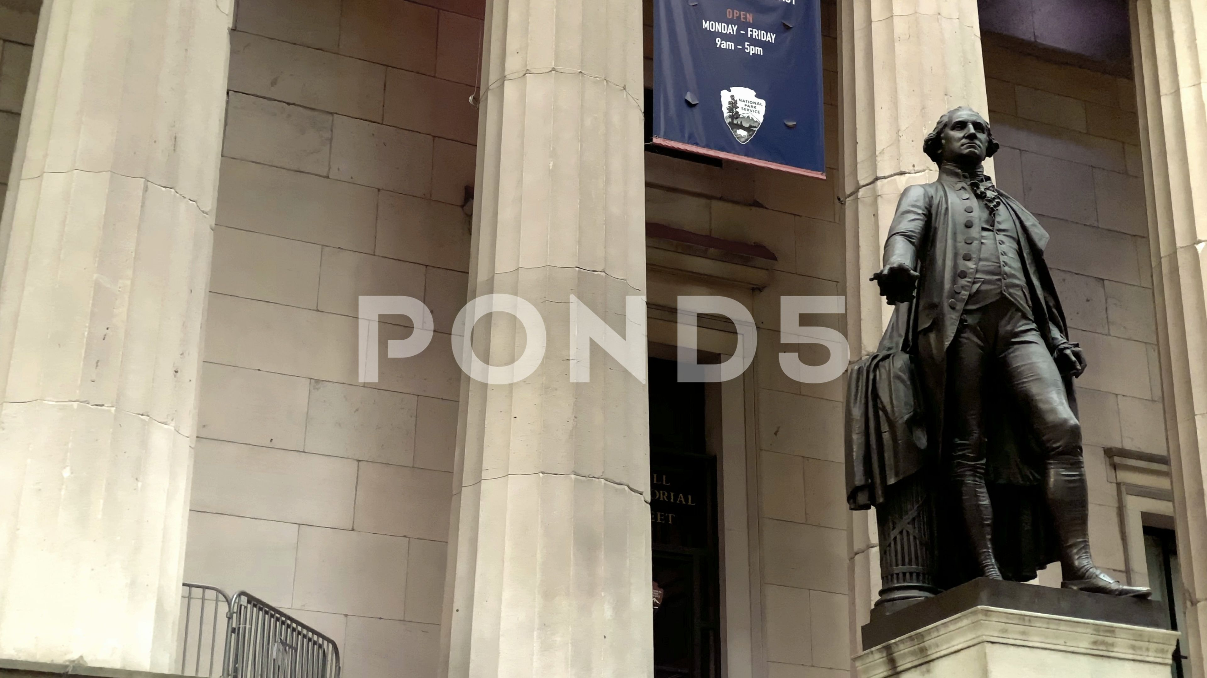 George Washington Statue Wall Street Federal Hall Building New York City Nyc Stock Footage Ad Wall Street Federal George