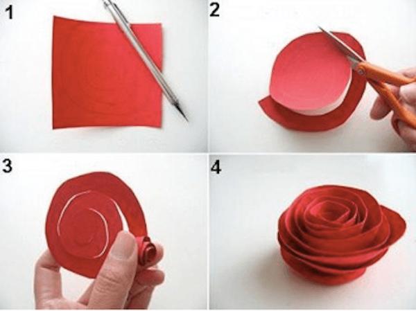 resultado de imagem para como hacer rosas de papel - Hacer Rosas De Papel