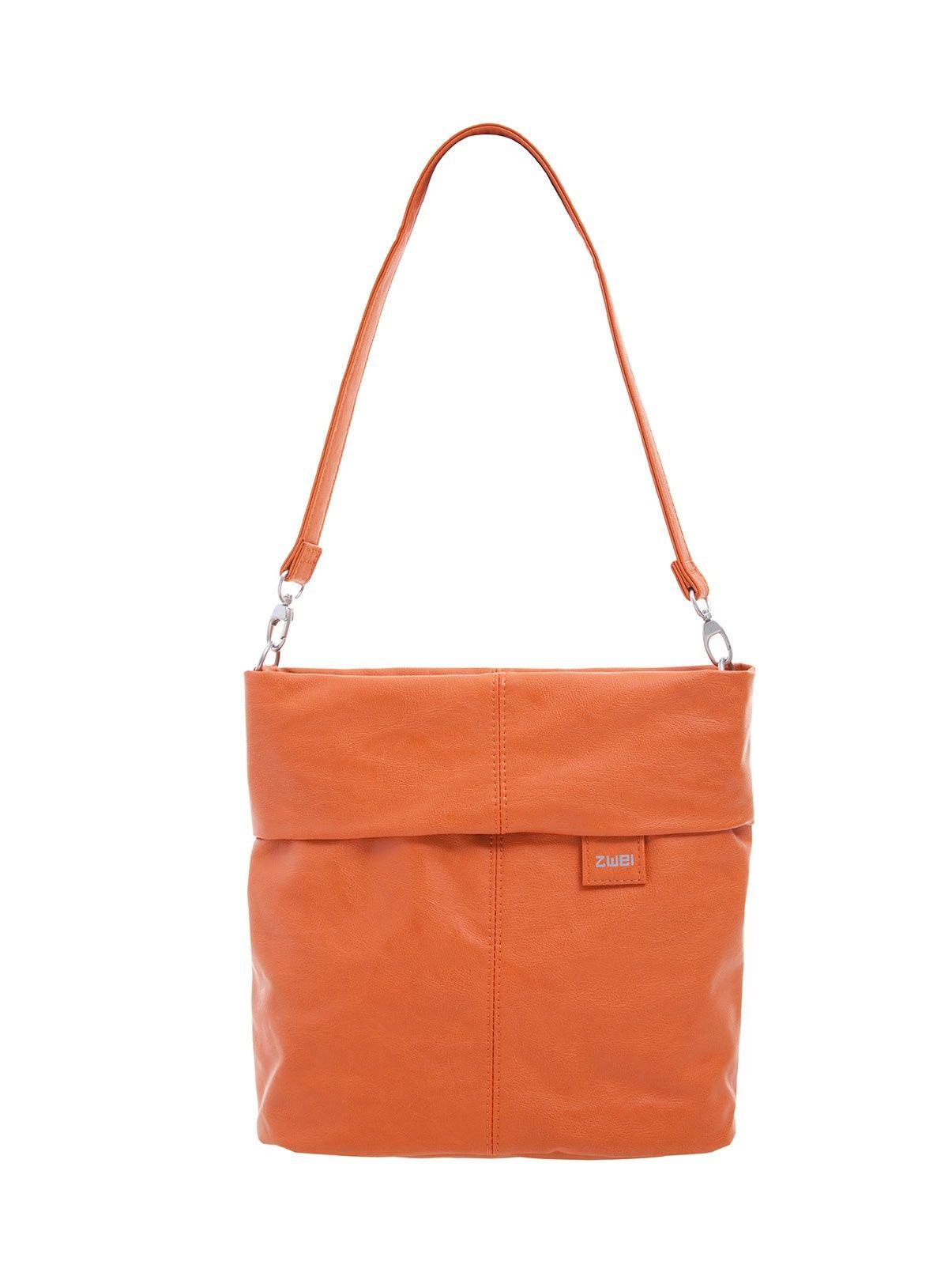 Frauentaschen :: MADEMOISELLE :: M8 | ZWEI Taschen Handtasche :: orange :: lederfrei