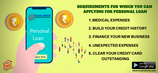 9 Requirements For Which You Can Apply For Personal Loan Online Mudra Home Personal Loans Online Personal Loans Business Loans