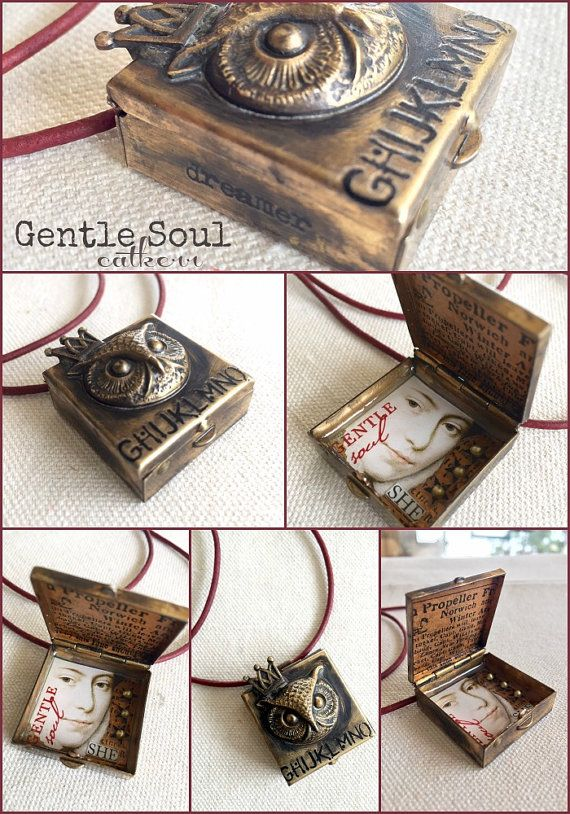 a1263931f949 Gentle Soul Mixed Media Art Pendant Soldered box with Resin | Crafts ...
