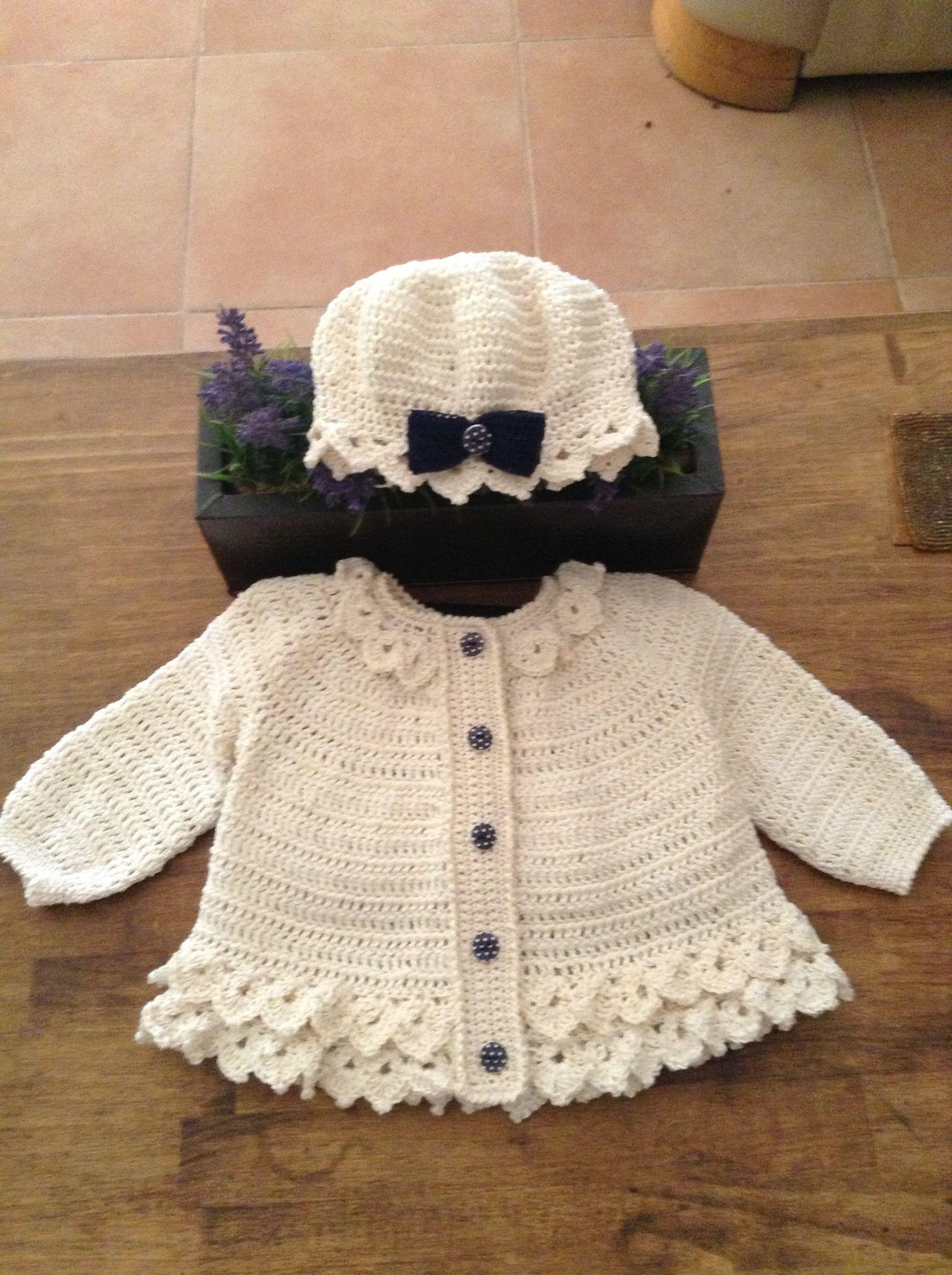 Short swing cardigan 1-2 years | chaquetas niñas crochet | Pinterest ...