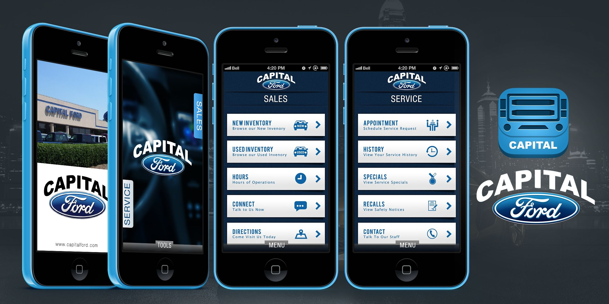 Iconic Solutions Capital Ford Has Hundreds Of New Fords For Sale Huge Used Car Selection Mobile App App Development Mobile App Development