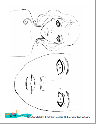Free Printable Face Template x2 Would you like to download a – Face Template Printable