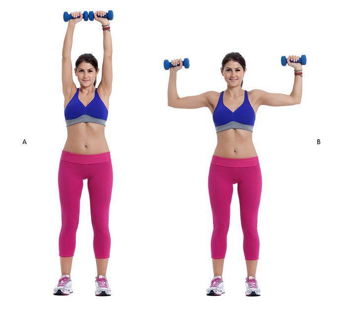 Fitness: Ejercicios con mancuernas para tonificar y fortalecer hombros - #con #Ejercicios #fitness #...