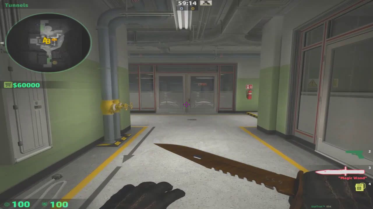 Offset stairs by control room near bombsite B #games