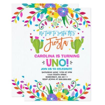 Fiesta Birthday Invitation Mexican Birthday Fiesta birthday gifts