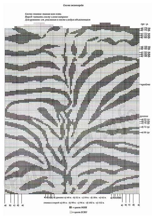 Zebra intarsia sweater pattern | mustrid kudumiseks | Pinterest ...