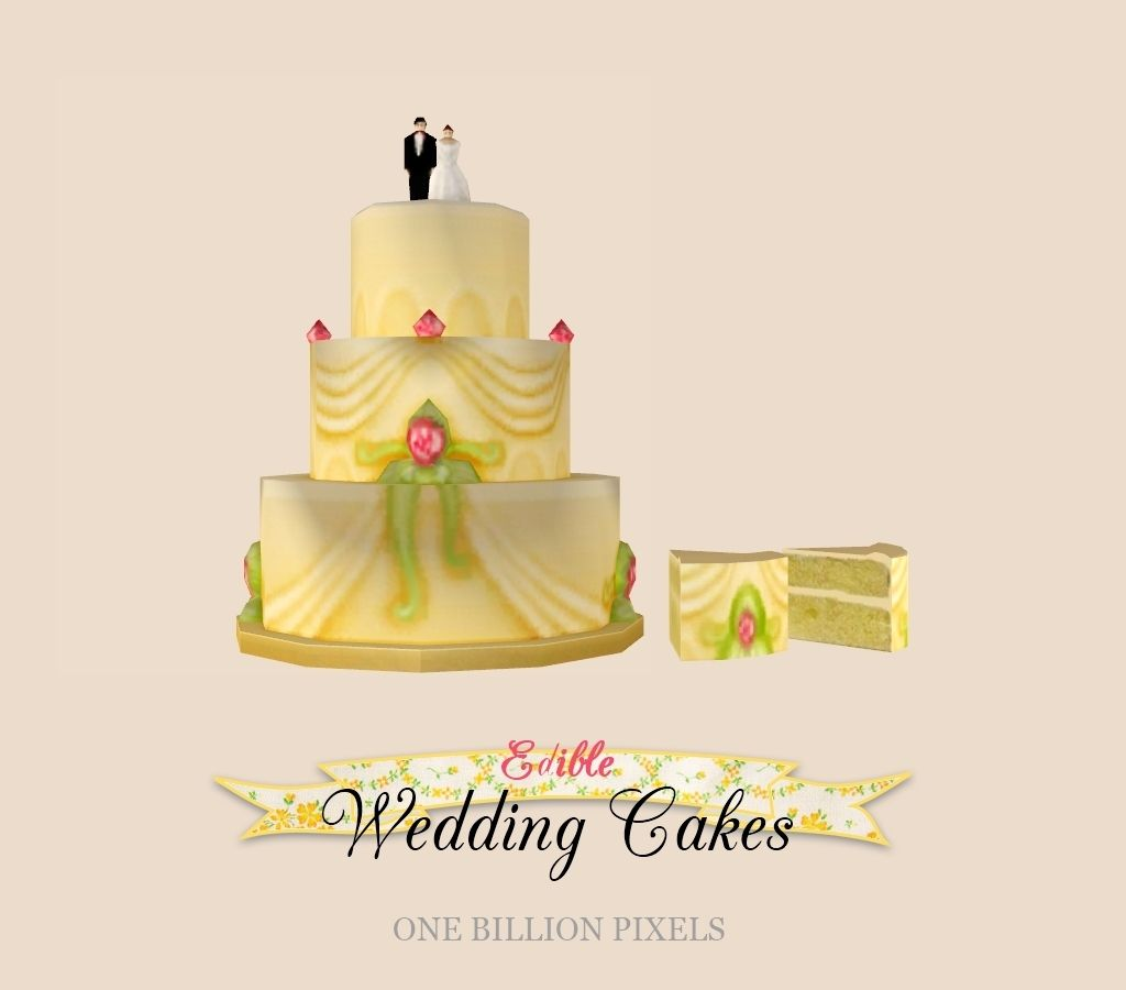 One Billion Pixels: Edible Wedding Cakes + Bonus