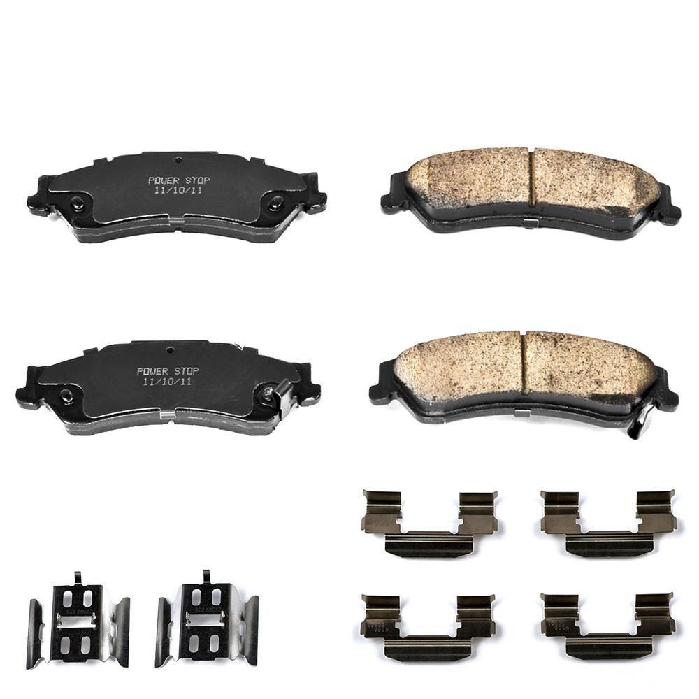 Disc Brake Pad Set-Z17 Evolution Plus Disc Brake Pad and Hardware Kit Rear