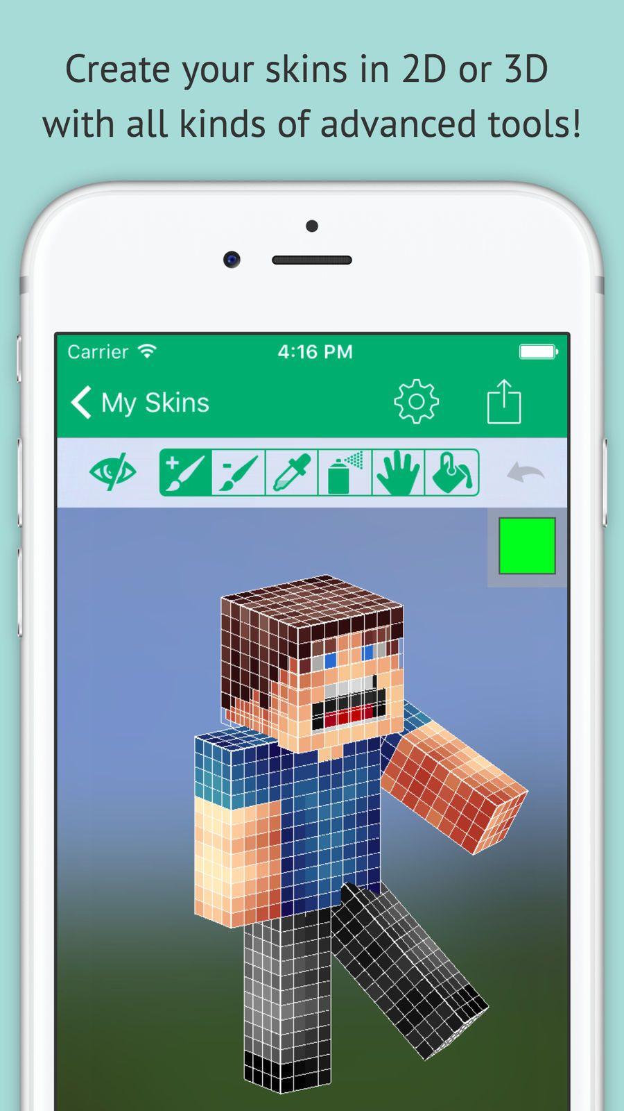 Skin Editor Minecraft Creator Edition Appstaposaurusutilities