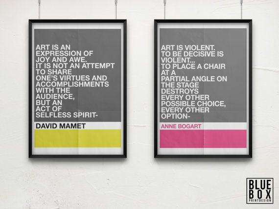 Items Similar To Artaud And Brecht Modern Theatre Quote Posters On Etsy