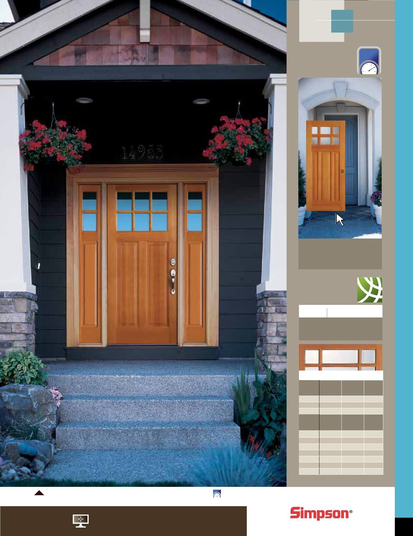 Awesome wood brown panel simpson door design collections with