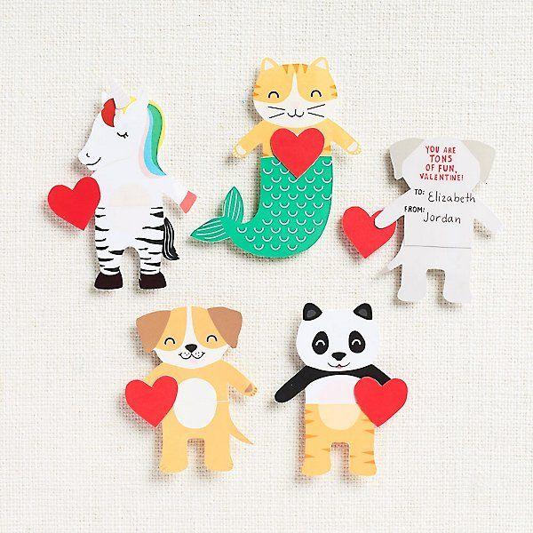 mix  match critter valentine card kit in 2020