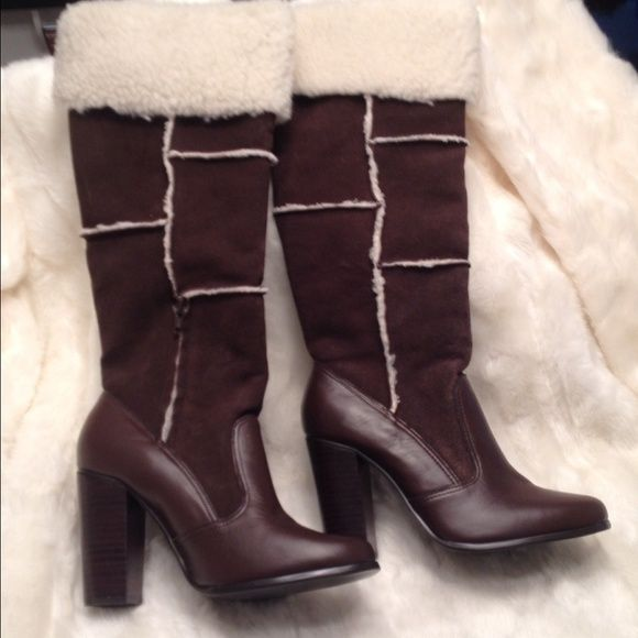 NWOB COLIN STUART Brown Suede Boots Size 8 New without box. Real pretty boots. Flawless. True to size. Colin Stuart Shoes