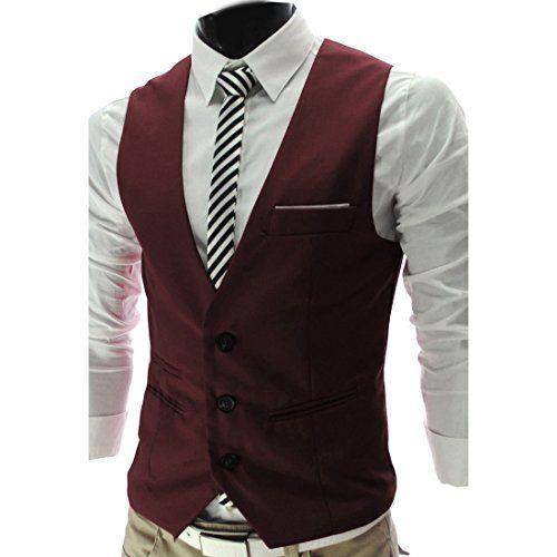 4 farbe herren maenner weste v neck business vest gentleman style freizeit anzug guenstig. Black Bedroom Furniture Sets. Home Design Ideas