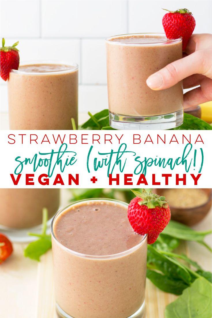 Vegan Strawberry Banana Smoothie | Mindful Avocado
