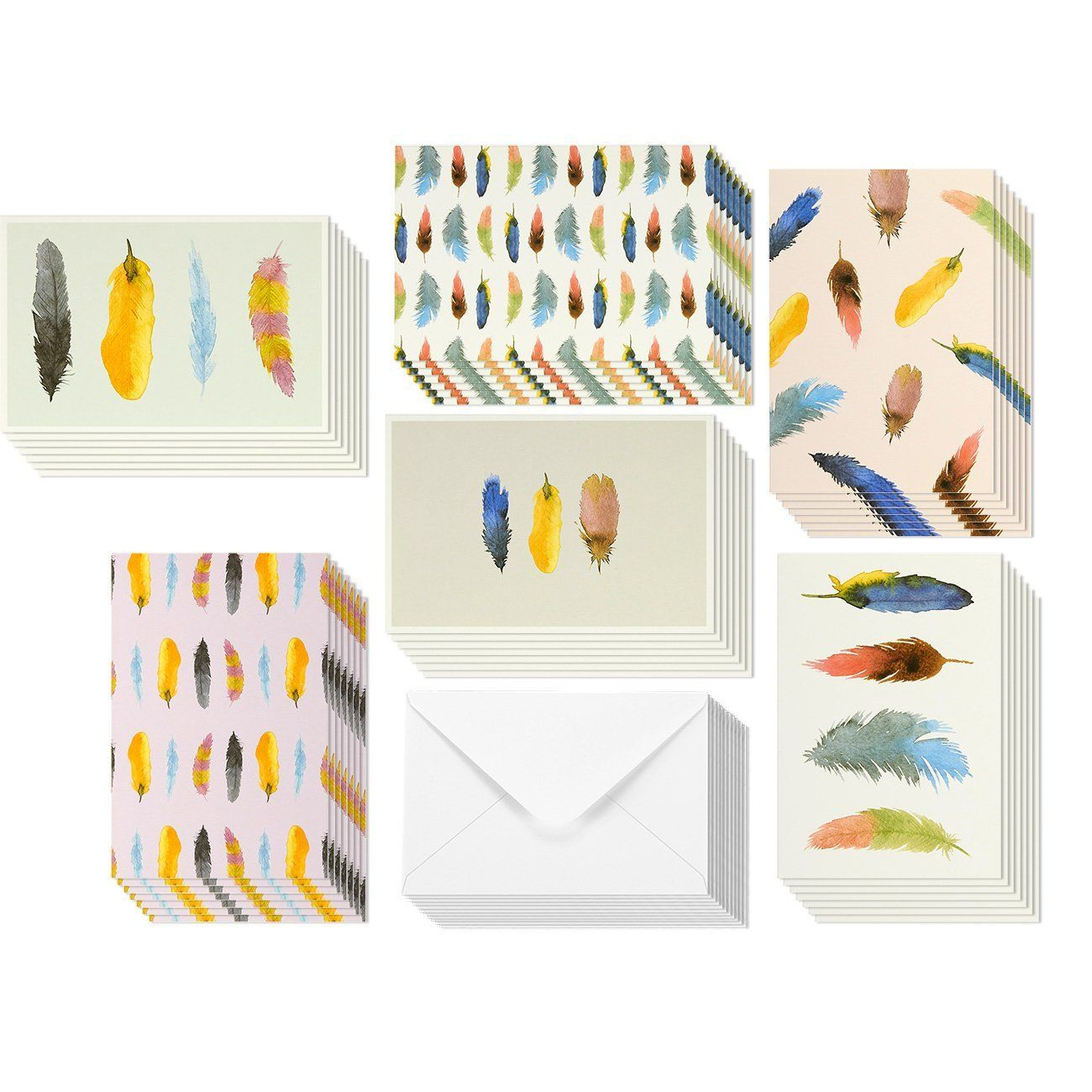 Amazon Com 48 Pack All Occasion Assorted Blank Note Cards Greeting Card Bulk Box Set Colorful Watercolor Blank Greeting Cards Blank Cards Blank Note Cards