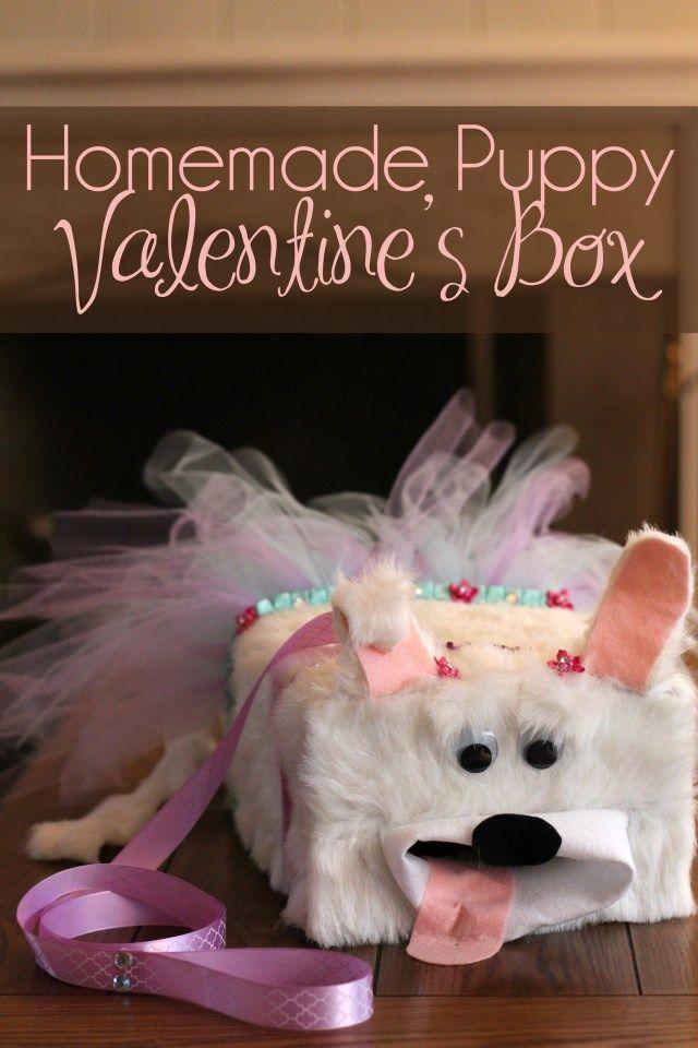 Puppy Valentines Box  Fun Valentines Crafts for Kids  Box