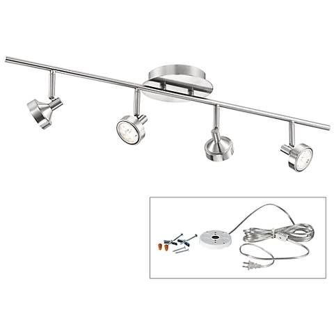 Pro Track Tilden Four Head Led Plug In Track Light Y7283 6k570 Lamps Plus Iluminacao