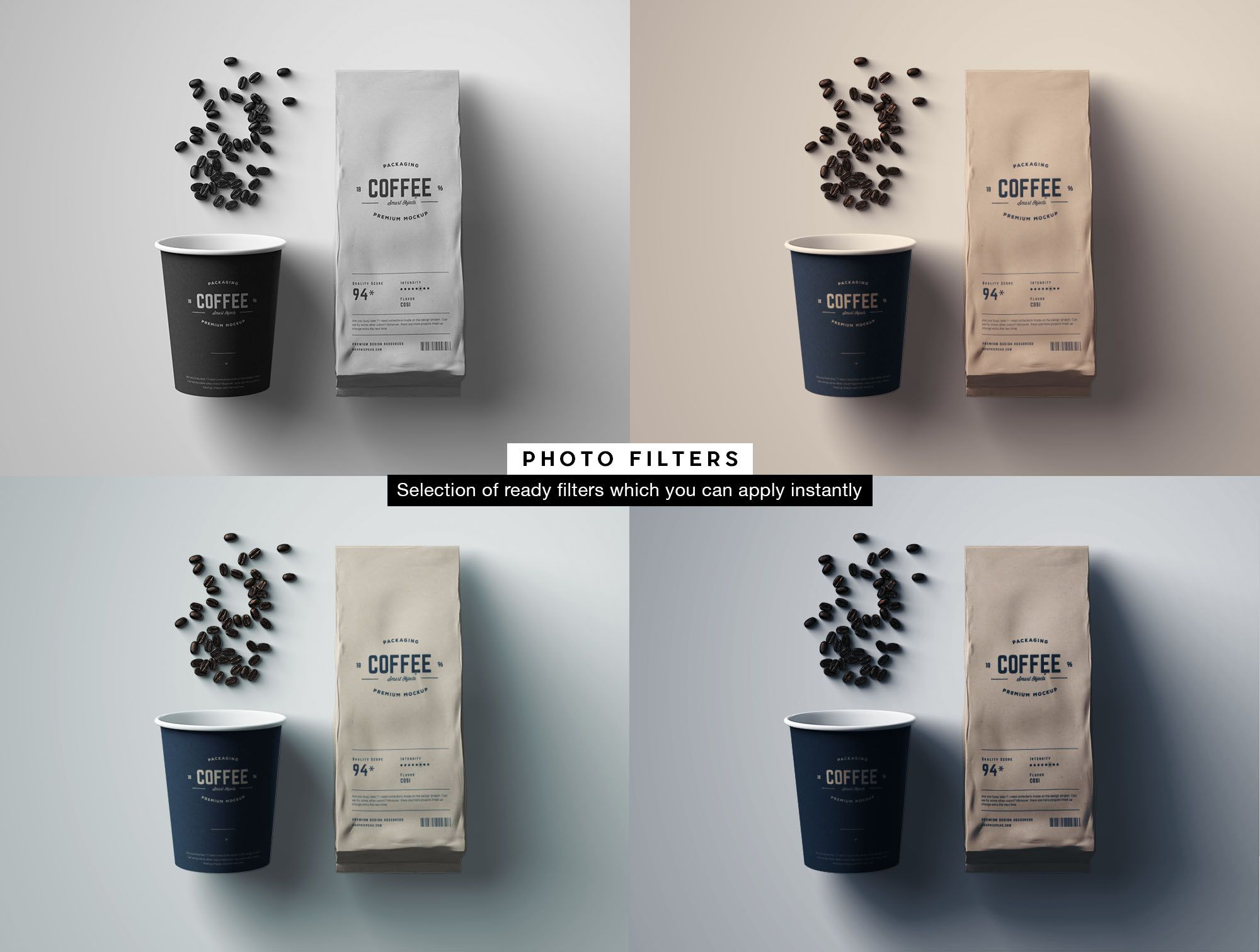 Coffee Package Mockup Filters Coffee Packaging Coffee Coffee Photos