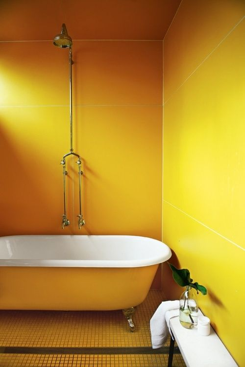 Nothing Like A Sunshine Yellow Bathroom To Brighten Your Morning