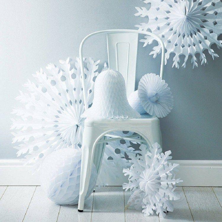 ides de dcoration de nol blanche 20 classiques modernes - Decoration De Noel Blanche