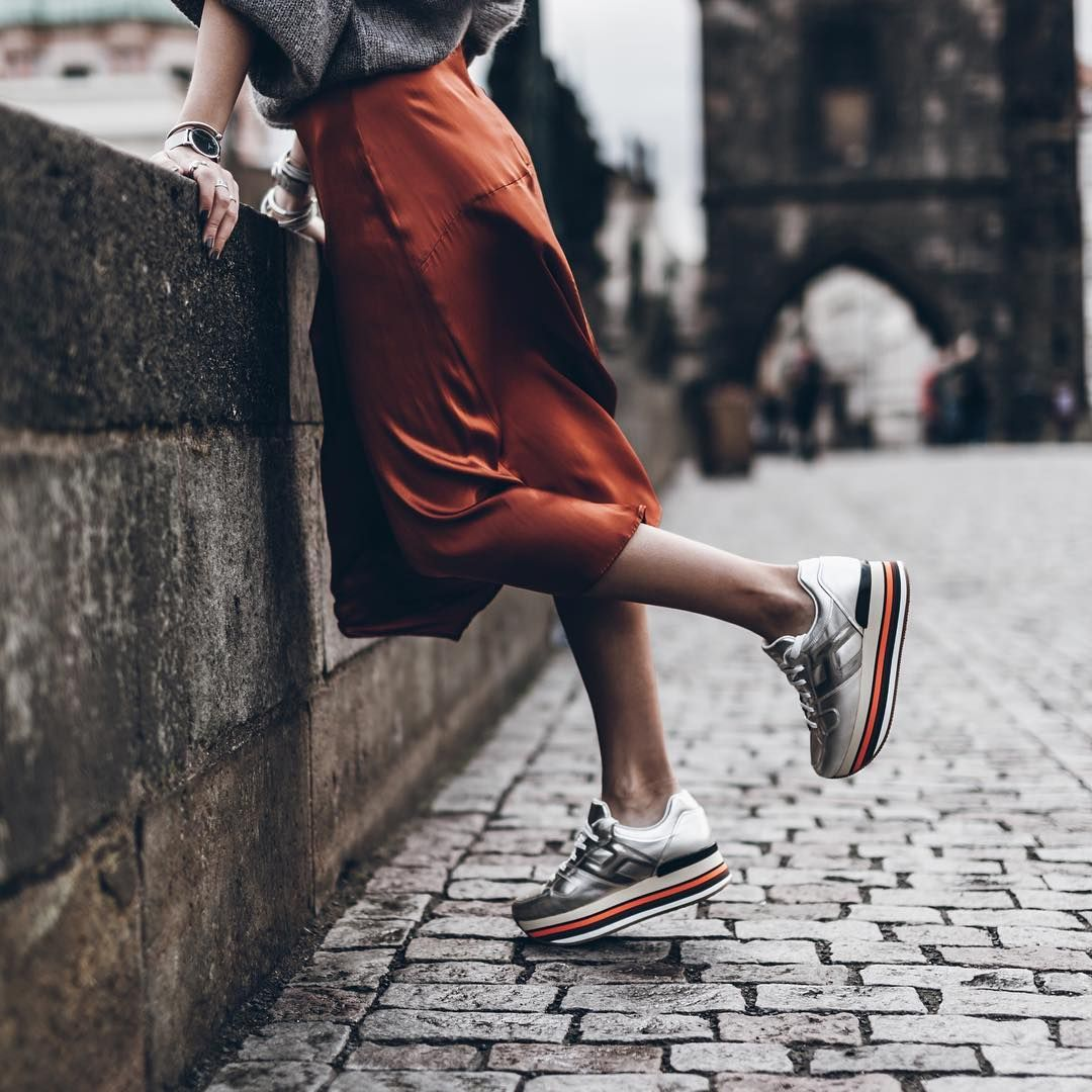 Rainbow sole #HOGAN Maxi #H222 #sneakers in #Prague with @mikutas ...