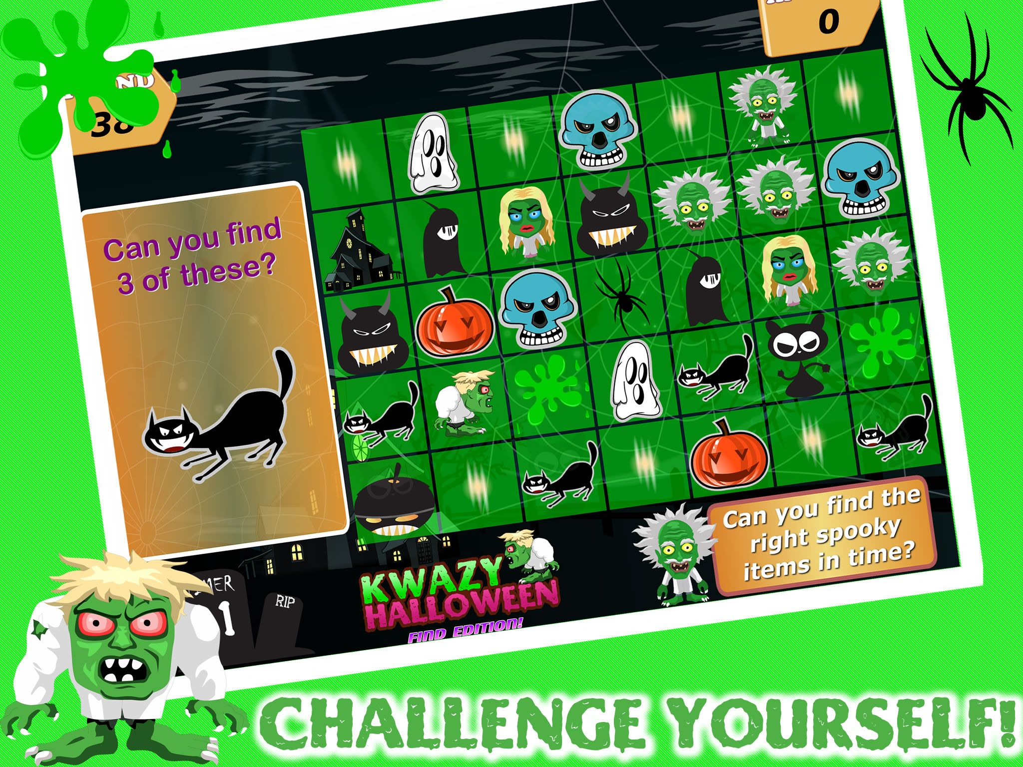 countdown to halloween spooky halloween ios game kwazy halloween find edition free with