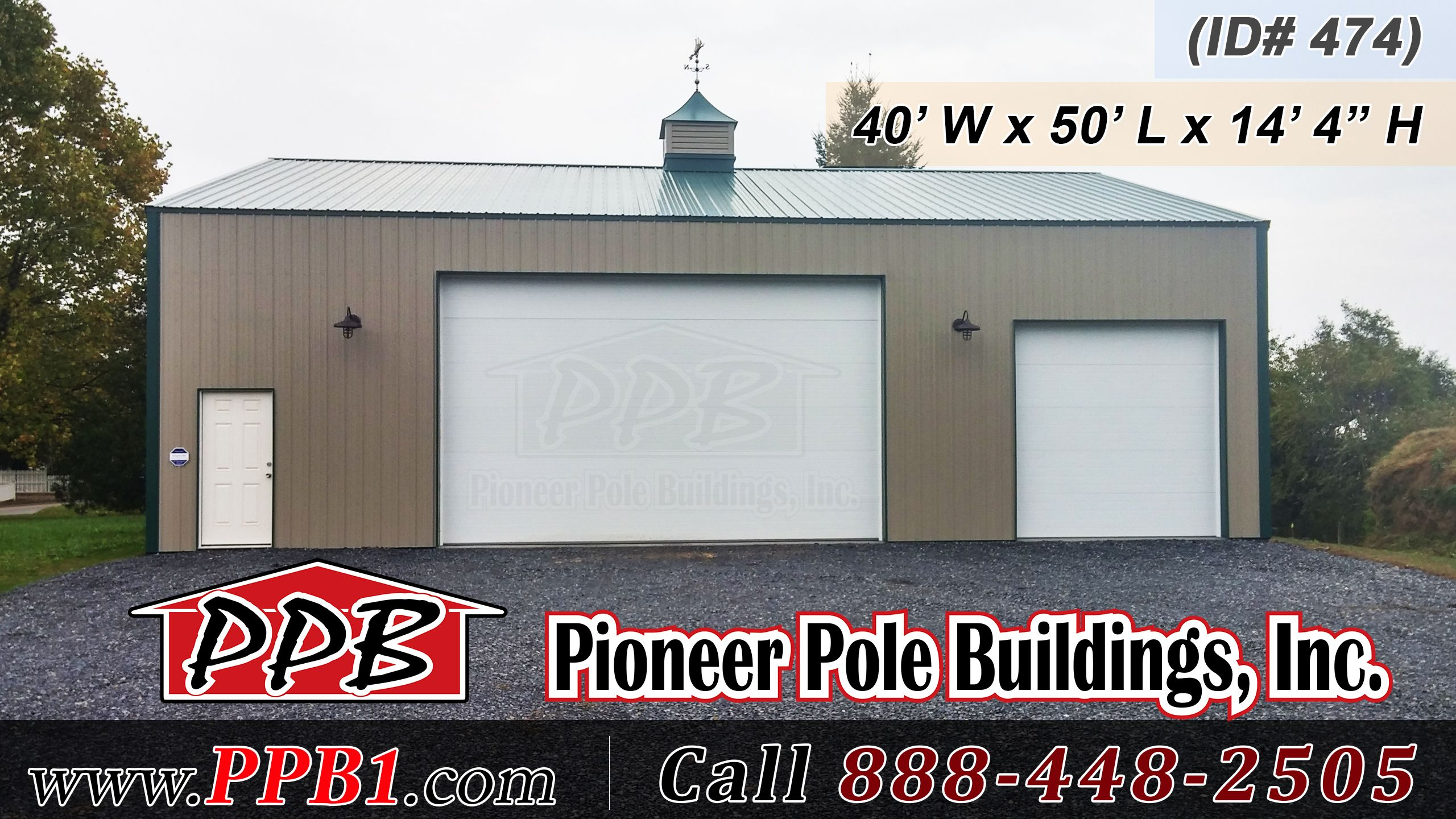 Multi car garage 40 w x 50 l x 14 4 h 40 standard for 12 x 10 garage door price
