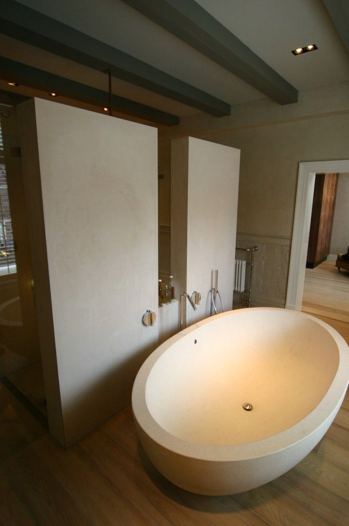 modern bathroom #tadelakt made by Ludwig Luschen beige off white ...