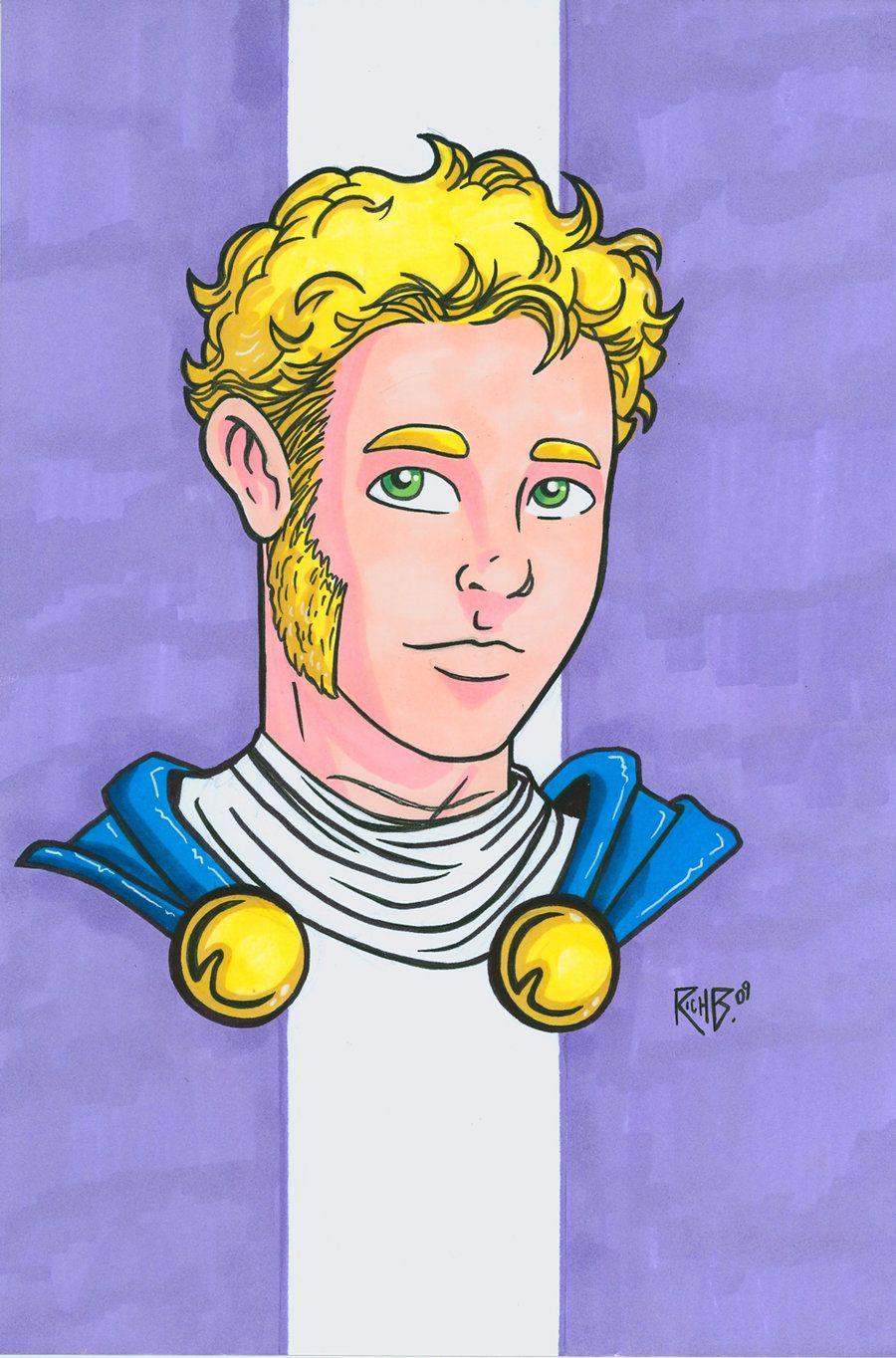 Jericho Headshot Colored by Rich Bernatovech   Comic Book ...