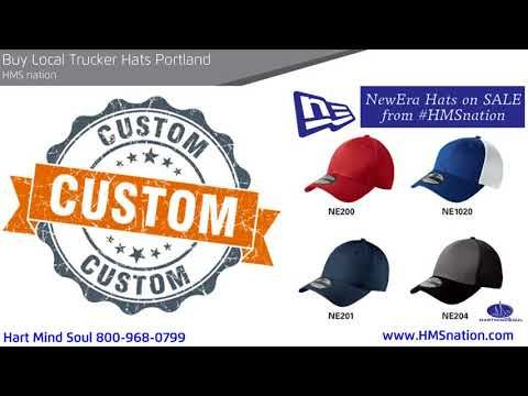 4e24944ddad13 Hart Mind Soul organic cotton and sustainable Trucker Hats For Sale to  Portland Oregon Custom Screen