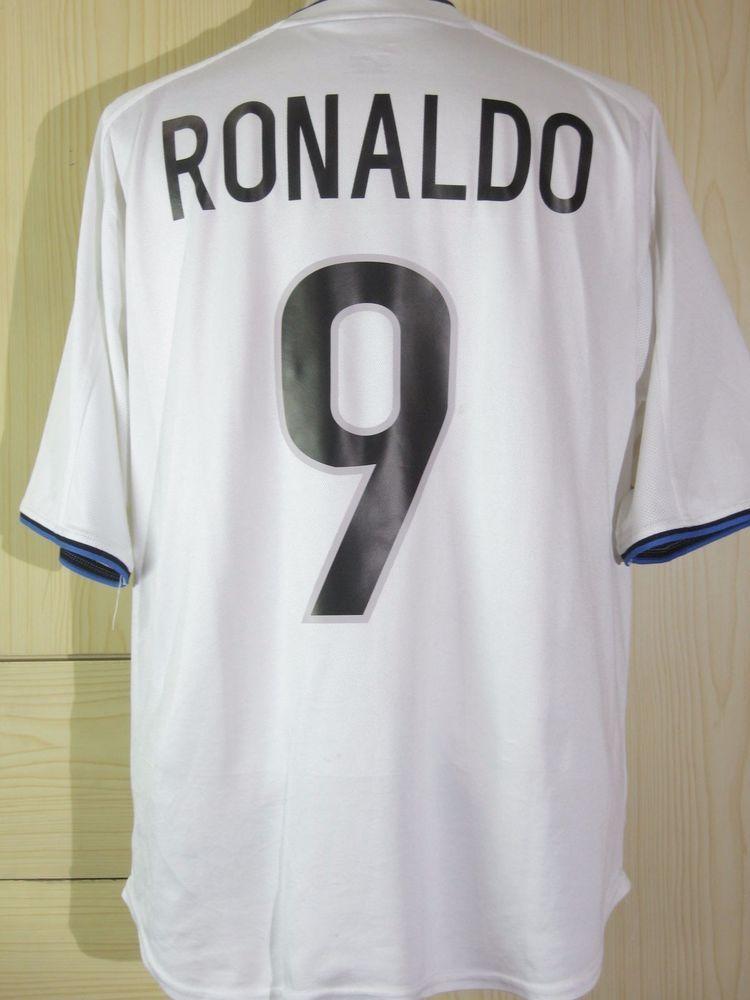 online store 9f83f 49bc6 Ronaldo Brazil Inter Milan Italy 1999 2000 Player Jersey ...