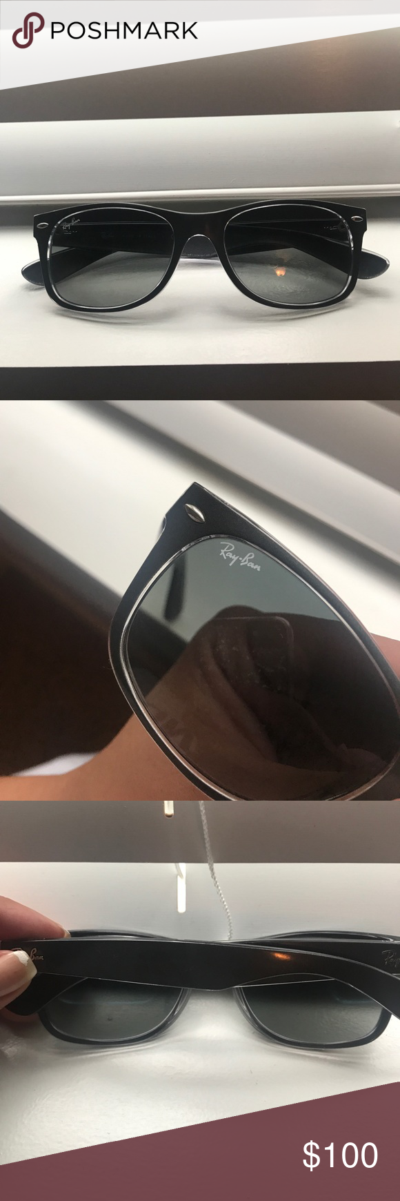 Ray-ban Wayfarer Sunglasses Color is Gunmetal Grey. Brand new worn a few times, no scratches. Perfect condition. Unisex. Ray-Ban Accessories Sunglasses