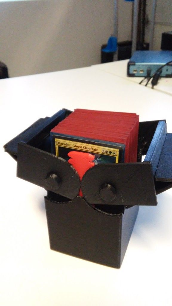 Improved Deck Box With Gears For Magic The Gathering Edh Commander