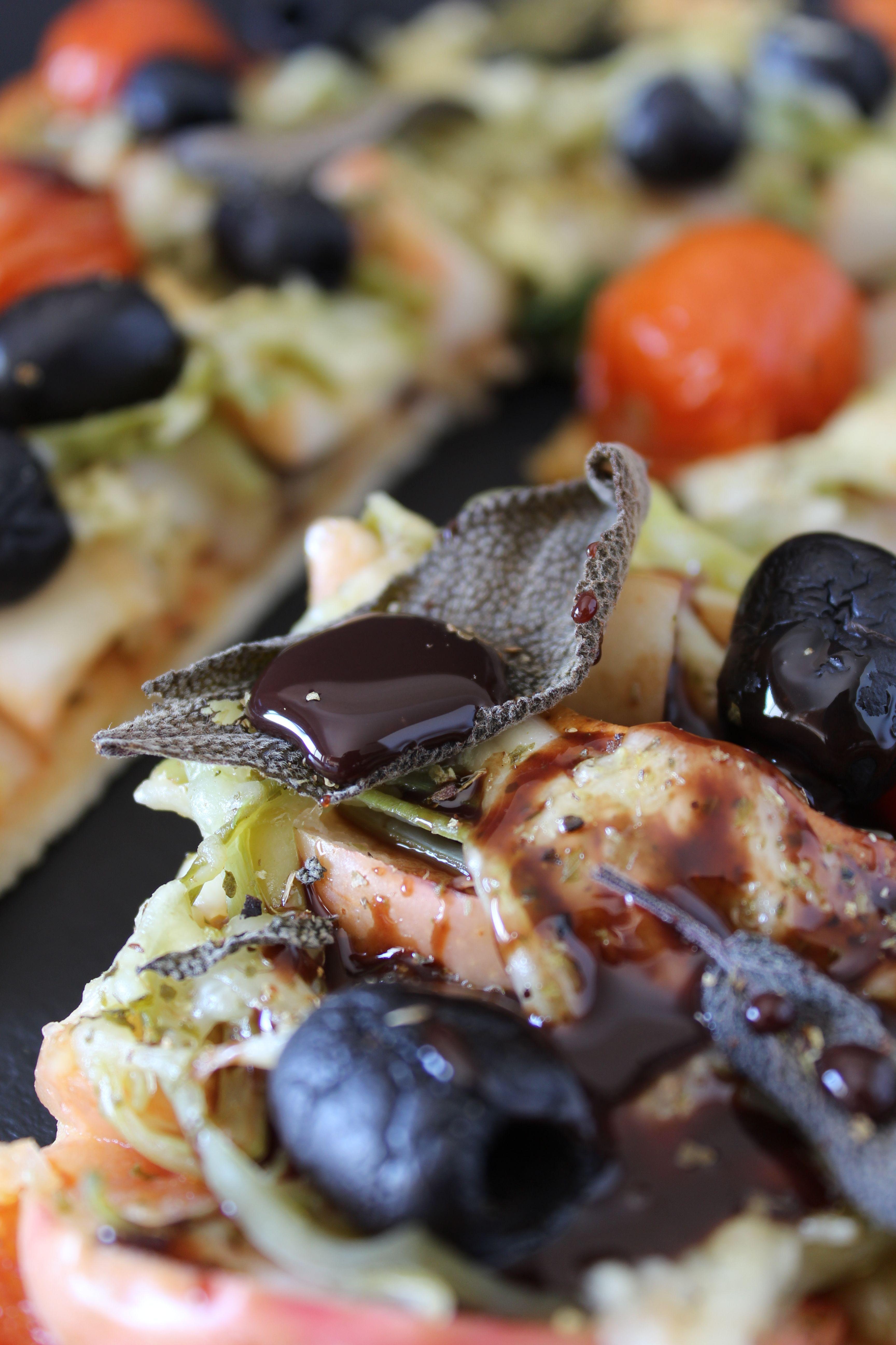 Pizza Da Horta Com Topping De Chocolate
