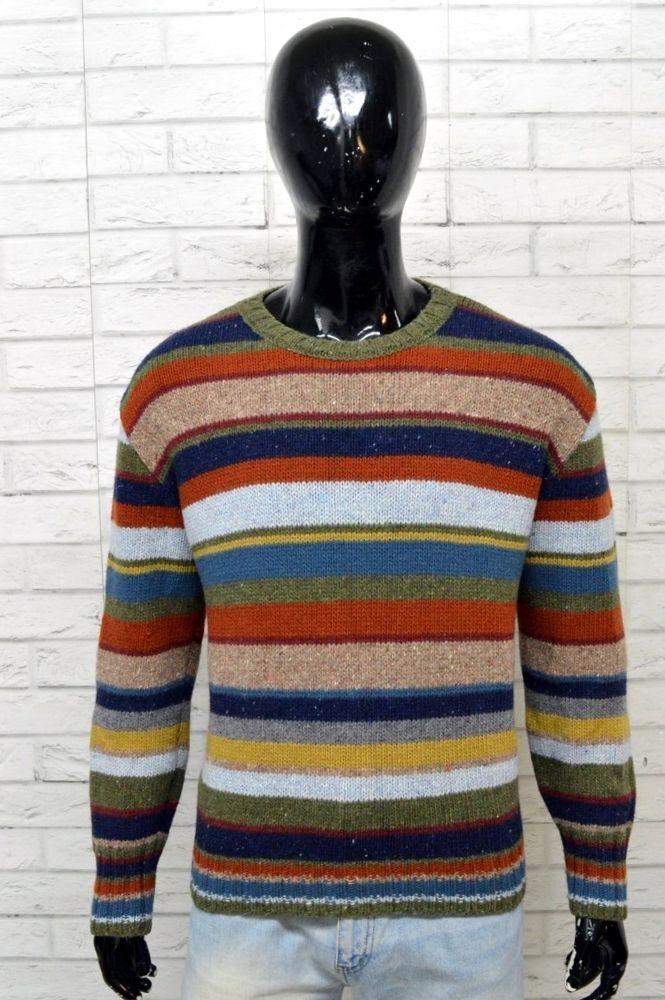 nuovo concetto 2d010 f07a0 Maglione Uomo WOOLRICH Taglia XL Pullover a Righe Sweater Man in ...