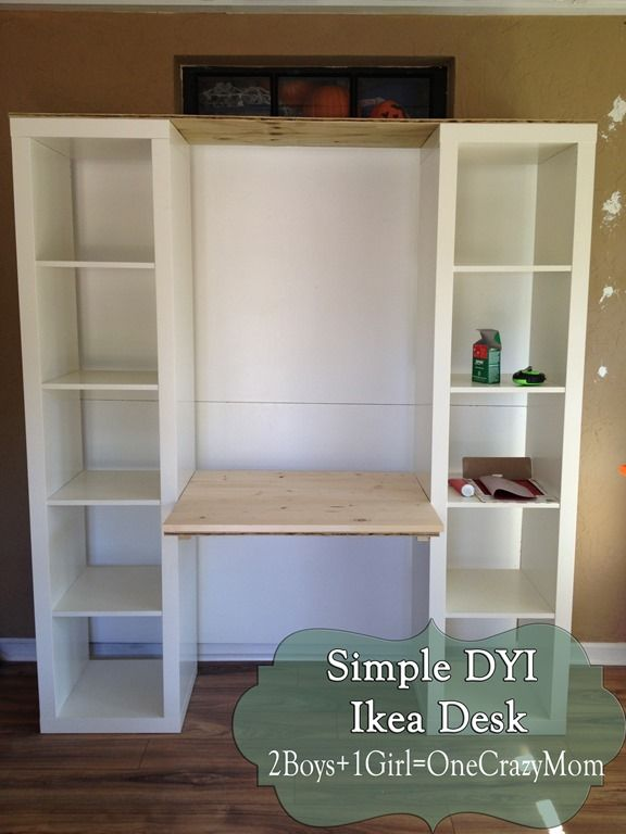 Do It Yourself Home Design: Build A Desk Out Of Ikea Expedite Units #DYI Project