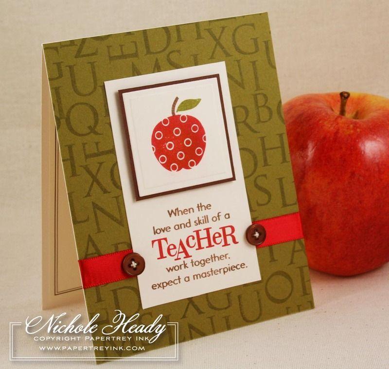 teacher card  handmade teachers day cards apple teacher