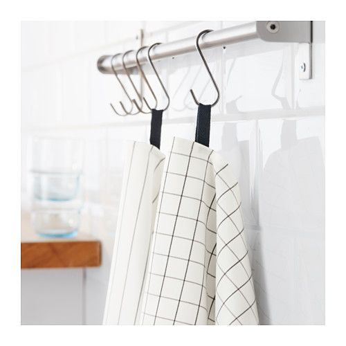 IKEA IKEA 365+ Tea towel White 50x70 cm Two loops make it easy to hang up/store the tea towel when you're not using it.