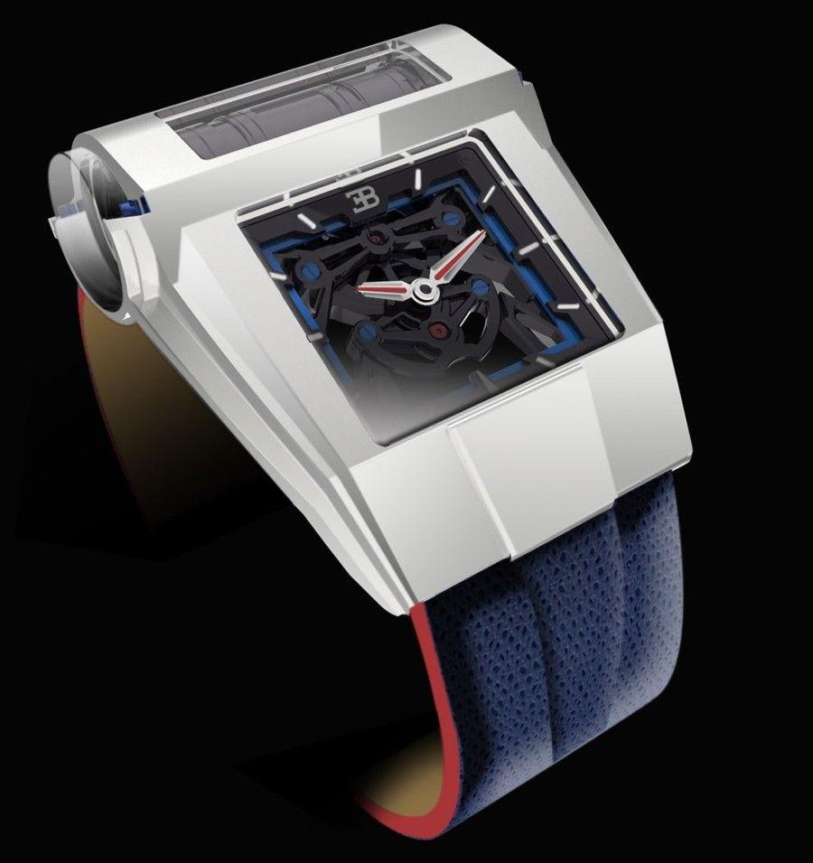 2016 Geneva Motor Show Bugatti Chiron First Look: Parmigiani PF-Bugatti 390 Concept Watch